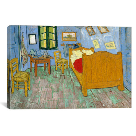 "Bedroom In Arles, Second Version, September 1889 (Art Institute Of Chicago) // Vincent van Gogh (40""W x 26""H x 1.5""D)"