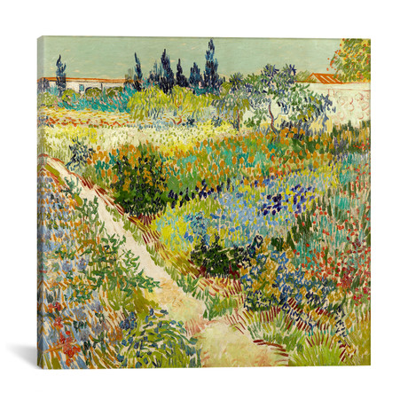 "The Garden at Arles // Vincent van Gogh // 1888 (18""W x 18""H x 0.75""D)"