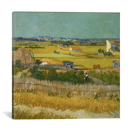 "The Harvest // Vincent van Gogh // 1888 (18""W x 18""H x 0.75""D)"