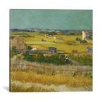 """The Harvest // Vincent van Gogh // 1888 (18""""W x 18""""H x 0.75""""D)"""