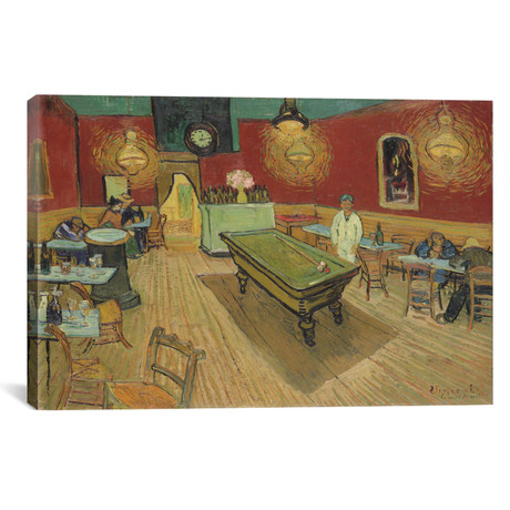 "The Night Cafe // Vincent van Gogh // 1888 (18""W x 26""H x 0.75""D)"