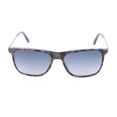 Police Men's Sunglasses // SPL572N // Transparent Blue + Havana