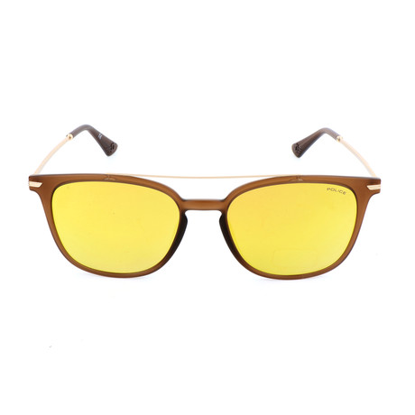 Police Men's Sunglasses // SPL360 // Matte Brown