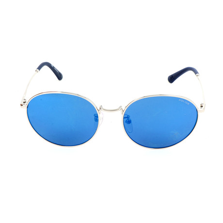 Police Men's Sunglasses // SPL386G // Shiny Palladium