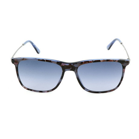 Police Men's Sunglasses // SPL572 // Transparent Blue + Havana