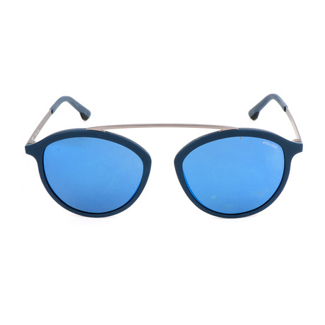 Police Men's Sunglasses // SPL496 // Matte Full Blue