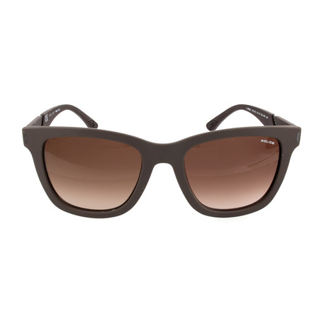 Police Men's Sunglasses // SPL352 // Rubberized Brown
