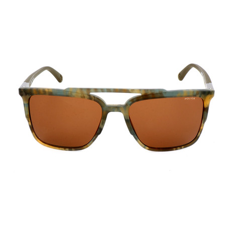 Police Men's Sunglasses // SPL363 // Matte Green Camouflage