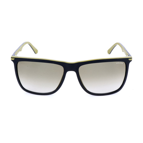 Police Men's Sunglasses // SPL492 // Semi-Matte Black