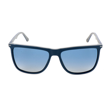 Police Men's Sunglasses // SPL492 // Shiny Full Blue