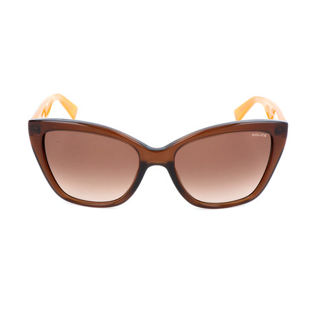 Police Women's Sunglasses // SPL407 // Shiny Brown