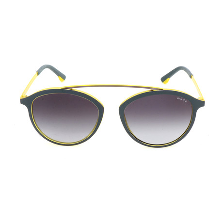 Police Men's Sunglasses // SPL496 // Brown + Shiny Yellow