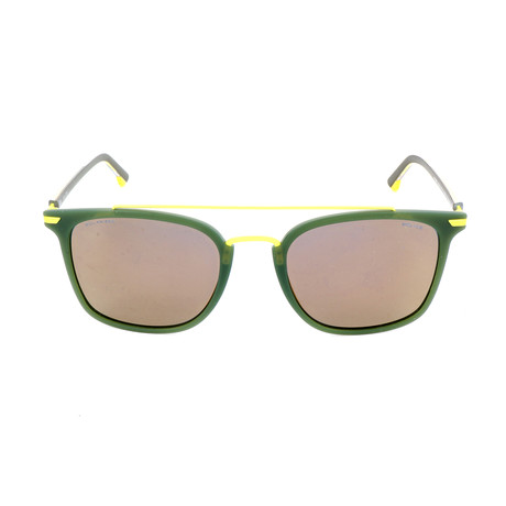 Police Men's Sunglasses // SPL583 // Matte Milky Khaki Green