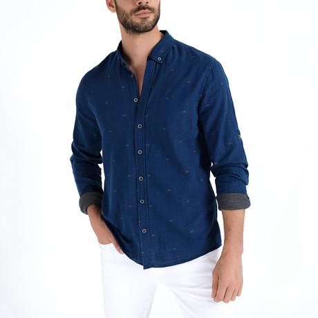 Button-Up Shirt // Navy (S)