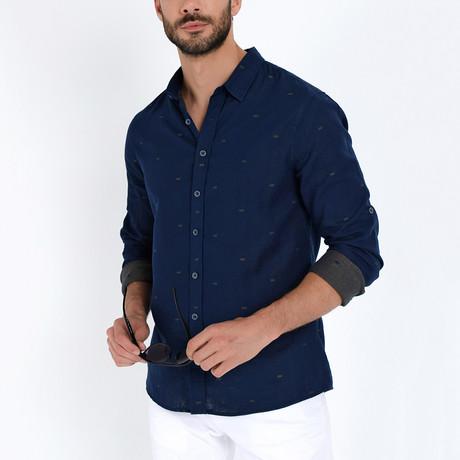 Button-Up Shirt // Indigo (S)