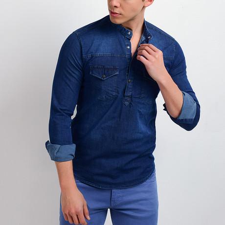 Denim Shirt // Dark Blue (S)