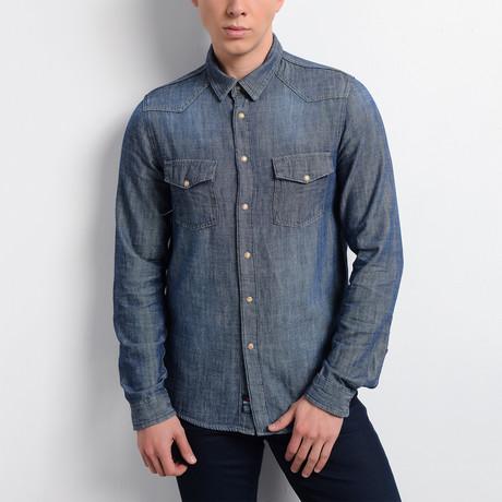 Denim Button-Up Shirt I // Dark Blue (S)