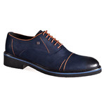Aurelio Shoes // Navy Blue + Brown (Euro: 43)