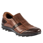 Percy Slip On Shoe // Brown (Euro: 45)