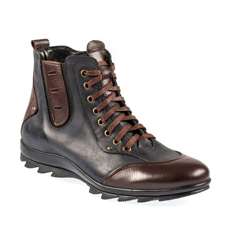 Leif Sport Boot // Navy Blue + Brown (Euro: 37)