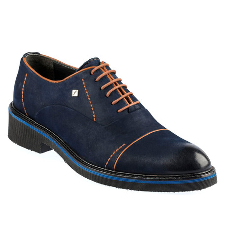 Aurelio Shoes // Navy Blue + Brown (Euro: 37)