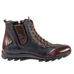 Leif Sport Boot // Navy Blue + Brown (Euro: 45)