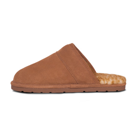 Men's Scuff Slippers // Chestnut (XS)