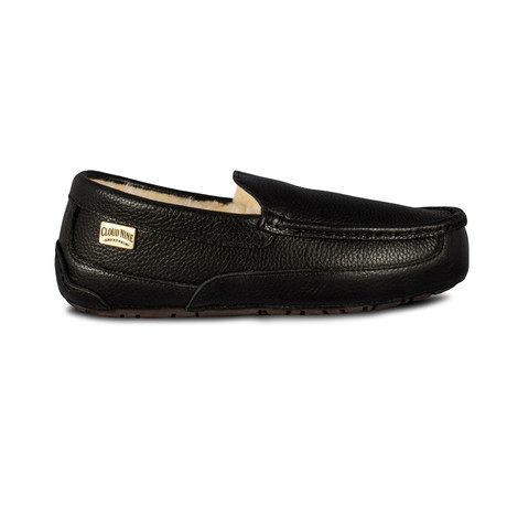 Men's Jackson Leather Moccasin // Black (US: 7)