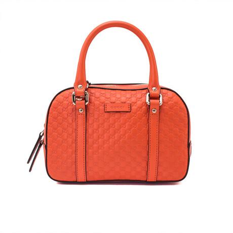 Gucci // Leather GG Top Handle Shoulder Handbag // Orange