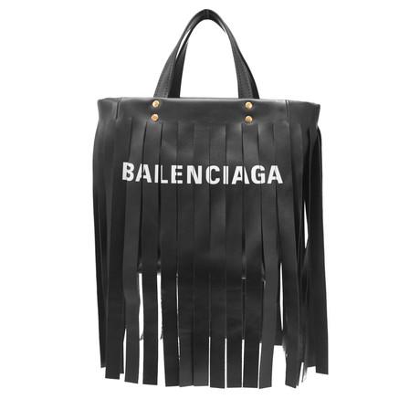 Balenciaga // Calfskin Leather XS Laundry Cabas Shopper Handbag // Black