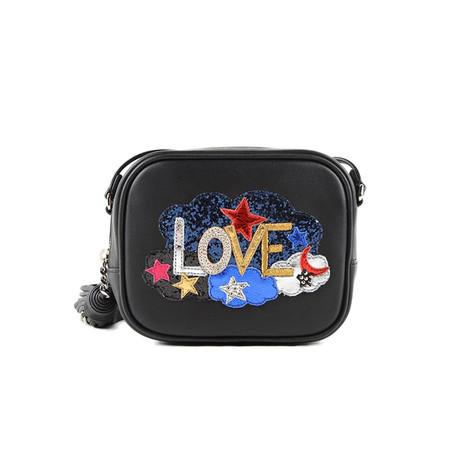 Saint Laurent // Leather 'Love' Mini Blogger Shoulder Handbag // Black