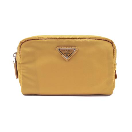 Prada // Nylon Cosmetic Bag V2 // Mustard Yellow