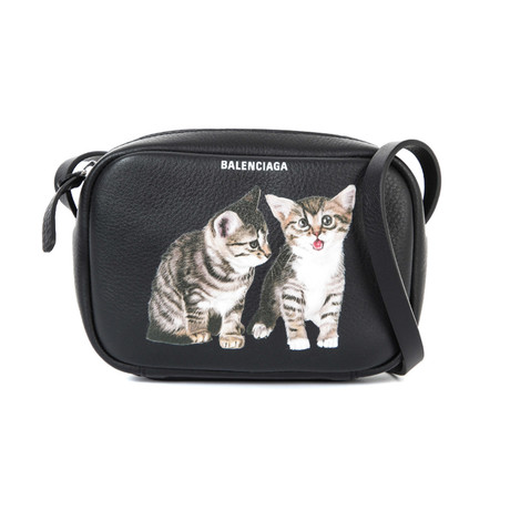 Balenciaga // Calfskin Leather XS Kitten Everyday Camera Handbag // Black