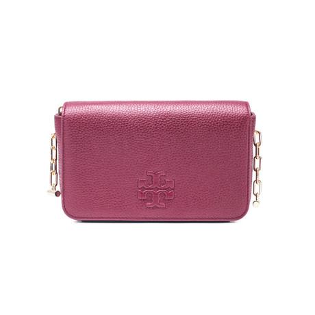 Tory Burch // Leather Thea Mini Crossbody Handbag // Burgundy
