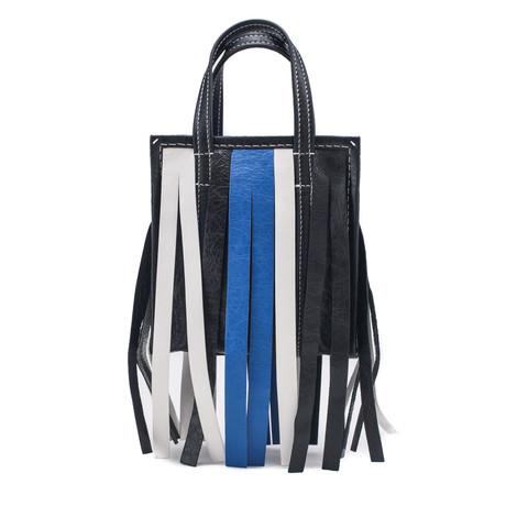 Balenciaga // Lambskin Leather XS Bazar Fringe Shopper Handbag // Black