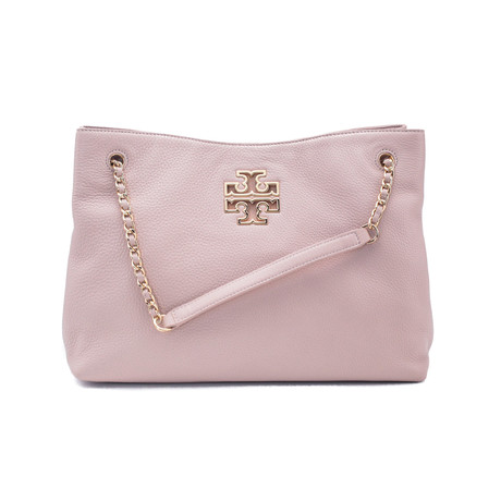 Tory Burch // Leather Britten Triple Compartment Tote Handbag // Pink