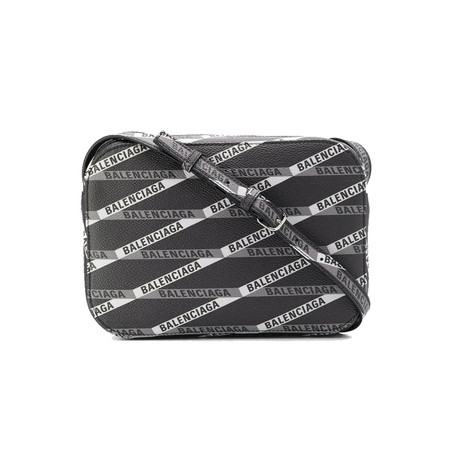 Balenciaga // Calfskin Leather Everyday Allover Camera Handbag V2 // Black
