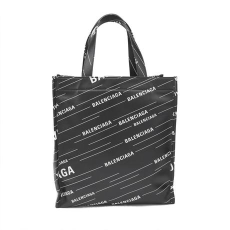 Balenciaga // Calfskin Leather Market Shopper Tote Handbag V1 // Black