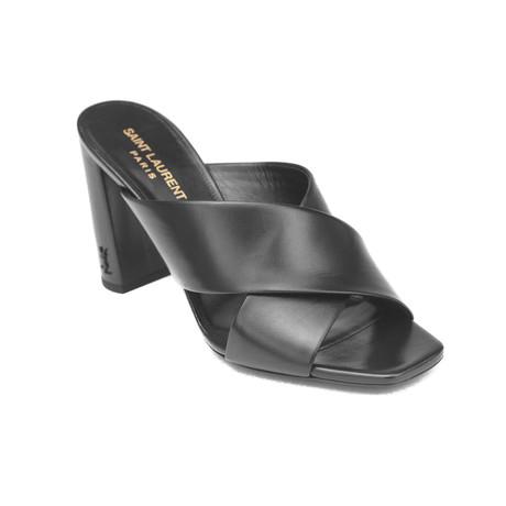 Saint Laurent // Leather Loulou High Heel Mule Sandal // Black (US: 5)