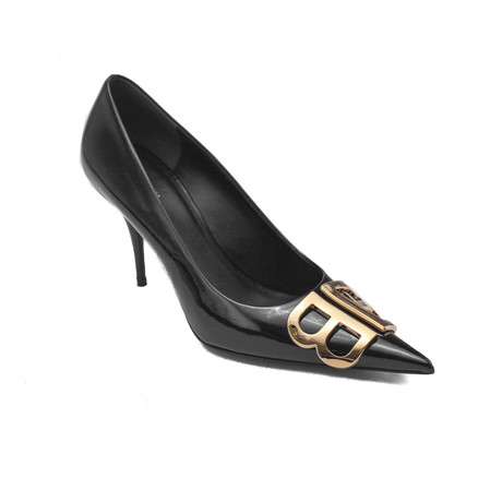 Balenciaga // Patent Leather BB Knife High Heel Pumps // Black (US: 5)