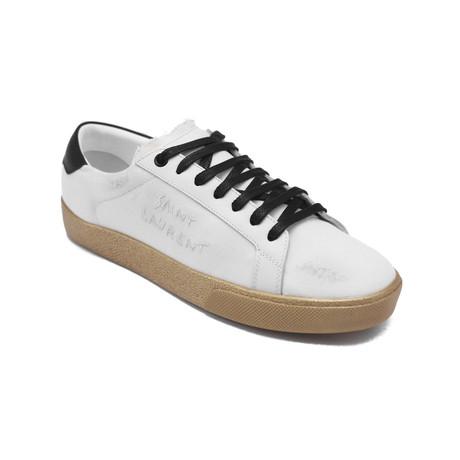 Saint Laurent // Canvas Court Classic SL-06 Sneaker // Off White (US: 5)