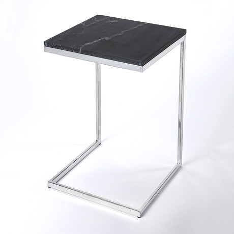 Grant Metal and Black Marble End Table