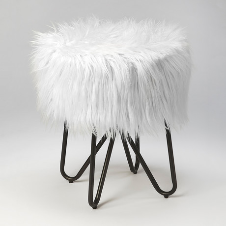 Birjir Faux Fur Stool