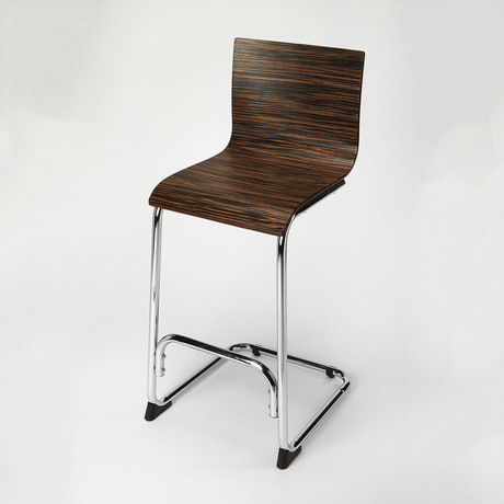 Elston Zebra Brentwood Bar Stool