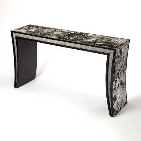 Jan Hair-on-Hide Leather Console Table
