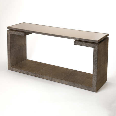 Proctor Leather Console Table