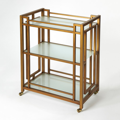 Gatsby Gold Metal Bar Cart