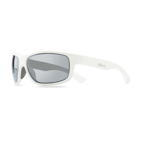 Unisex Baseliner Polarized Sunglasses // Matte White + Graphite