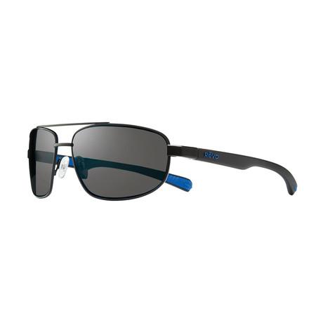 Unisex Wraith Polarized Sunglasses // Black + Graphite