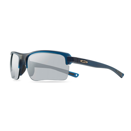 Men's Crux C Polarized Sunglasses // Matte Navy Crystal + Graphite Lens